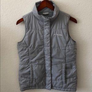 COLUMBIA Women's Light Gray Puffer Vest Size XS